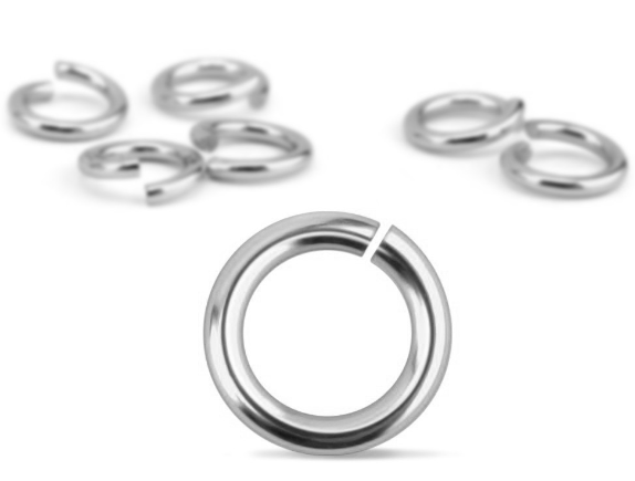Silver Plated Jump Rings<br>20 Gauge-7mm<br>90 Pack