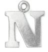 Letter Charm N<br>Pewter Stamping Blank<br>19mm