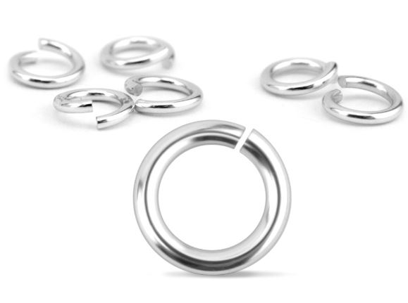 Aluminium Jump Rings<br>18 Gauge-5mm<br>50 Pack