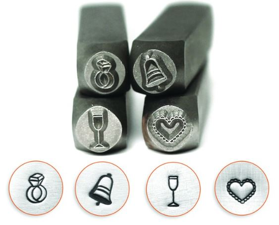 Wedding Celebration<br>Design Stamp Pack<br>4 Designs: 6mm
