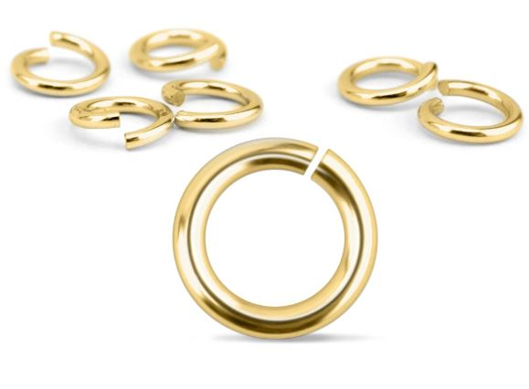 Brass Jump Rings<br>16 Gauge-6mm<br>50 Pack