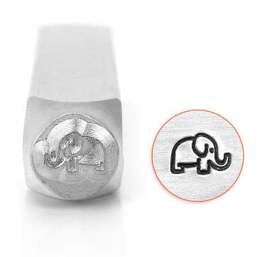 Elephant<br>Design Stamp<br>6mm