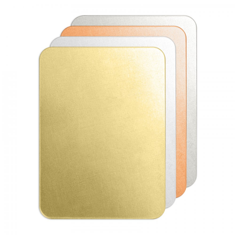 Rectangle Tag<br>Premium Stamping Blank<br>50mm x 35mm