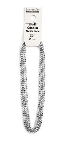 2 pack Ball Chain<br>Aluminium<br>50cm