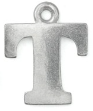 Letter Charm T<br>Pewter Stamping Blank<br>19mm