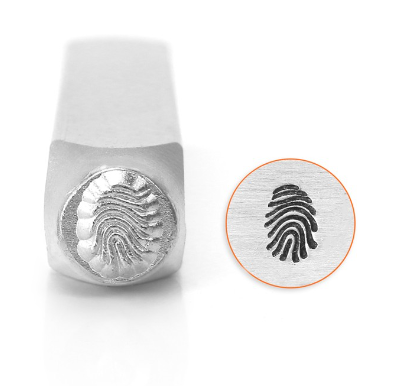 Fingerprint<br>Design Stamp<br>6mm