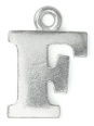 Letter Charm F<br>Pewter Stamping Blank<br>19mm