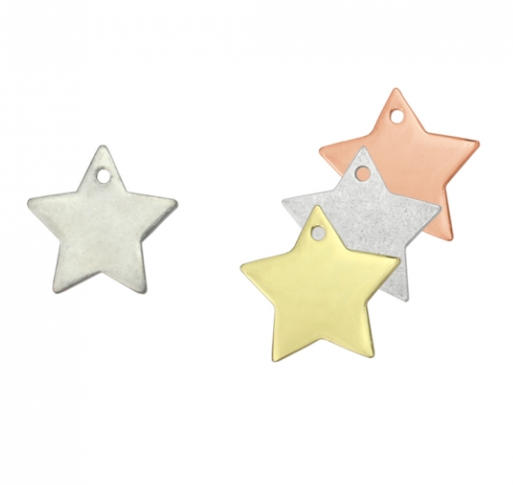 Star<br>Pewter Stamping Blank<br>25mm