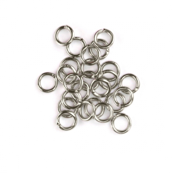 Artisan Antique Silver Plated<br>Jump Rings, 20 Gauge-7mm<br>90 Pack