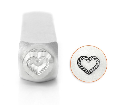 Rope Heart<br>Design Stamp<br>6mm