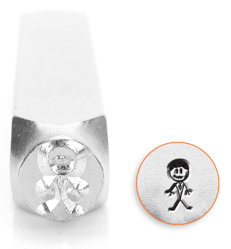 Daddy Stick Figure<br>Design Stamp<br>7mm