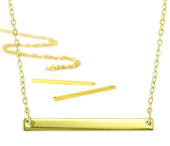 Personal Impressions<br>Large Rectangle - 1 Piece<br>Gold Plated