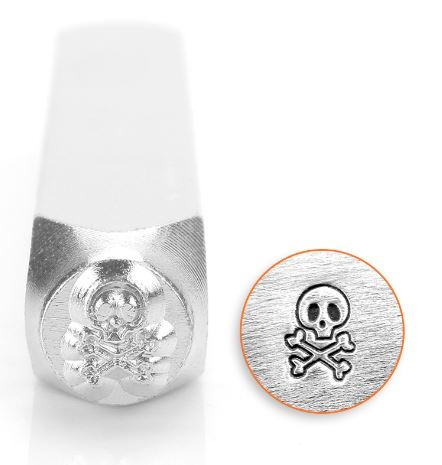 Skull and Bones<br>Design Stamp<br>6mm