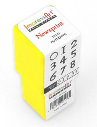 Newsprint<br>Number Set<br>3mm