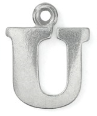 Letter Charm U<br>Pewter Stamping Blank<br>19mm