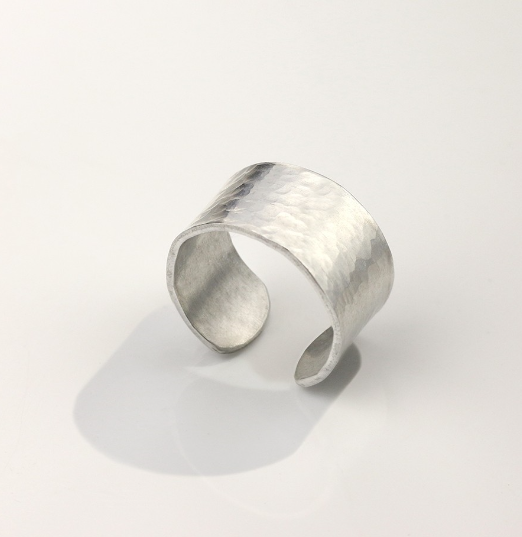 Ring, Size 7-9<br>Aluminium Stamping Blank<br>12mm x 57mm - 10 Pack