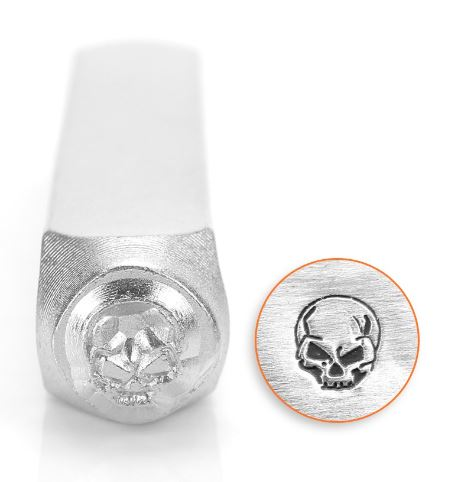 Angry Skull<br>Design Stamp<br>6mm
