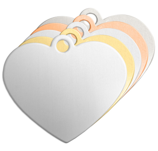Heart + Ring<br>Premium Stamping Blank<br>47mm x 35mm