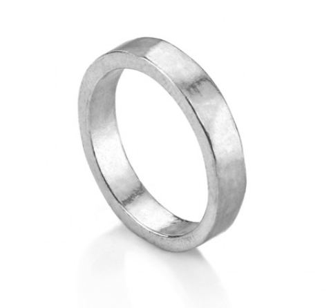 Ring<br>Pewter Stamping Blank<br>4mm, Size 7
