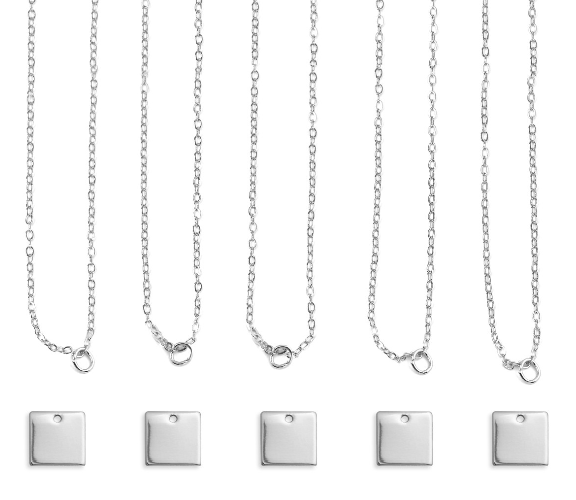 Personal Impressions<br>Square - 5 Pieces<br>Silver Plated