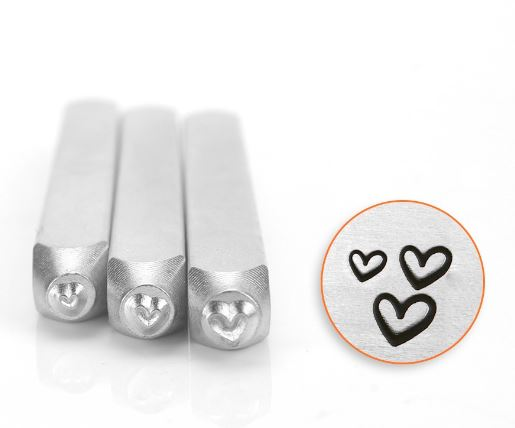Hearts<br>Design Stamps<br>3 Pack - 1.5mm, 2mm, 3mm