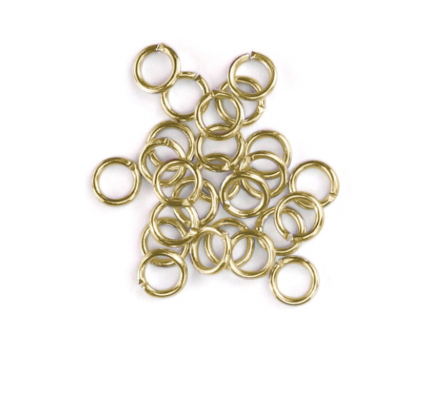 Artisan Real Gold Plated<br>Jump Rings, 20 Gauge-7mm<br>90 Pack