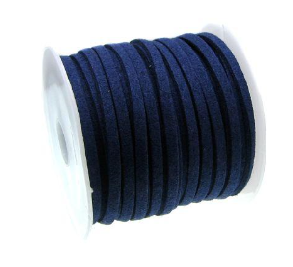 Mock Suede String<br>Navy<br>3mm x 4 metres
