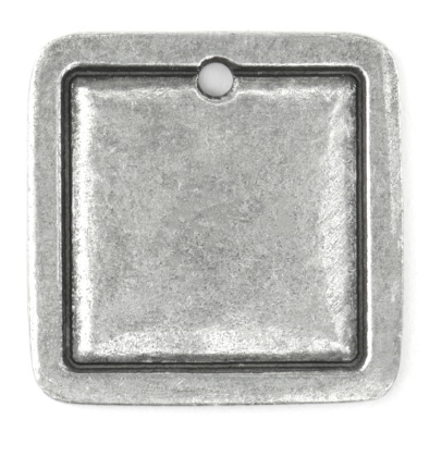 Square Border Large<br>Pewter Stamping Blank<br>25mm x 25mm