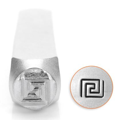 Greek Key<br>Design Stamp<br>6mm