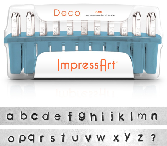 Deco<br>Lowercase Letter Set<br>6mm