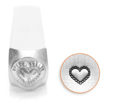 Lace Heart<br>Design Stamp<br>6mm