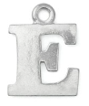 Letter Charm E<br>Pewter Stamping Blank<br>19mm