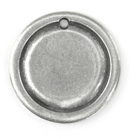 Circle Border Large<br>Pewter Stamping Blank<br>27mm x 27mm