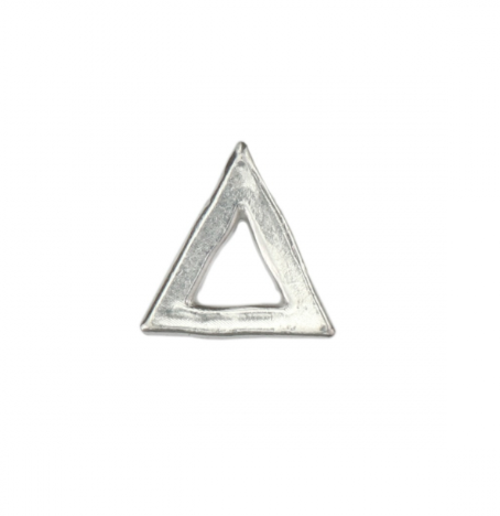 Triangle Organic Washer<br>Pewter Stamping Blank<br>(Small) 23mm