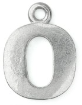 Letter Charm O<br>Pewter Stamping Blank<br>19mm