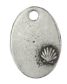 Oval with Sea Shell<br>Pewter Stamping Blank<br>28mm x 19mm