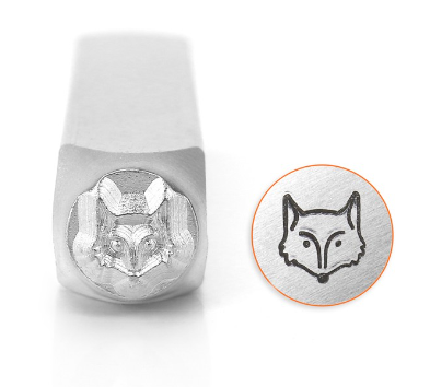 Fox Head<br>Design Stamp<br>6mm