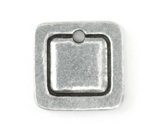 Square Border Small<br>Pewter Stamping Blank<br>13mm x 13mm