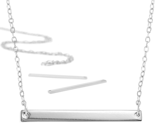 Personal Impressions<br>Large Rectangle - 1 Piece<br>Silver Plated