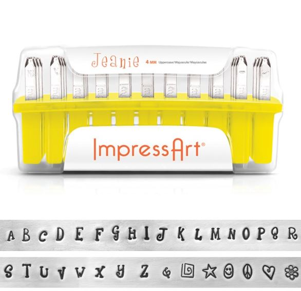 Jeanie<br>'Plated' Uppercase Letter Set<br>4mm