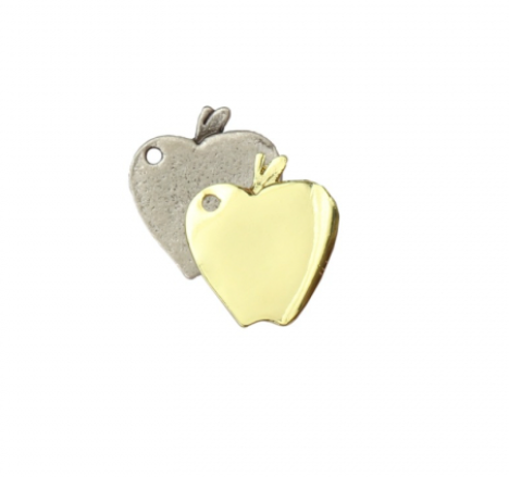 Apple Charm<br>Artisan Stamping Blank<br>22mm x 19mm