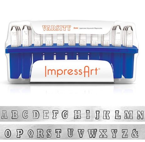 Varsity<br>'Plated' Uppercase Letter Set<br>6mm