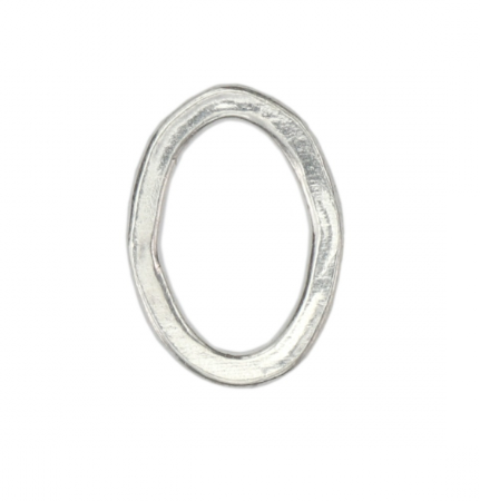 Oval Organic Washer<br>Pewter Stamping Blank<br>(Large) 32mm x 23mm