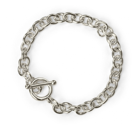 Charm Bracelet<br>Antique Silver Plated<br>18cm