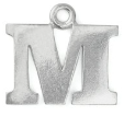 Letter Charm M<br>Pewter Stamping Blank<br>19mm
