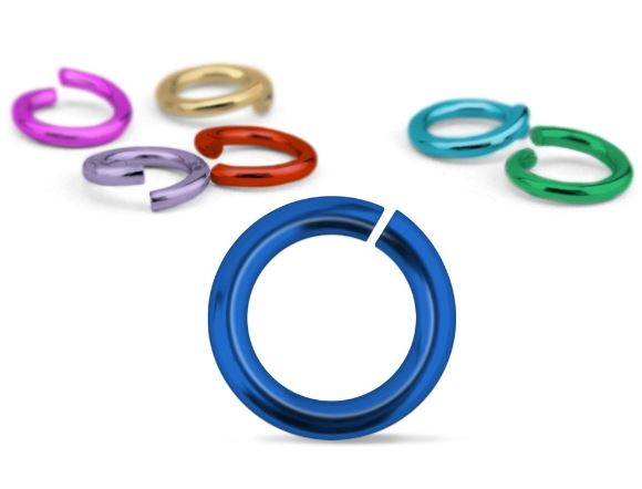 Mixed Colour Jump Rings<br>16 Gauge-6mm<br>50 Pieces