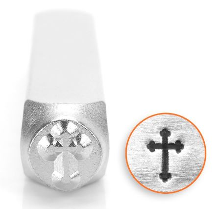 Rounded Cross<br>Design Stamp<br>6mm