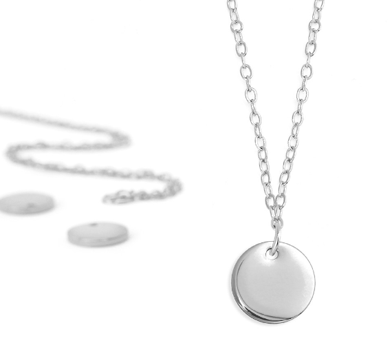 Personal Impressions<br>Small Circle - 1 Piece<br>Silver Plated