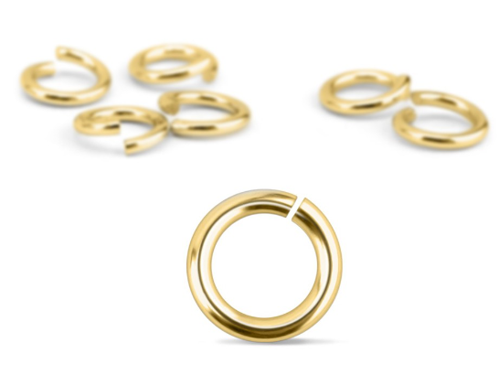 Gold Plated Jump Rings<br>20 Gauge-4mm<br>200 Pieces
