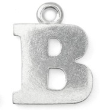 Letter Charm B<br> Pewter Stamping Blank<br>19mm